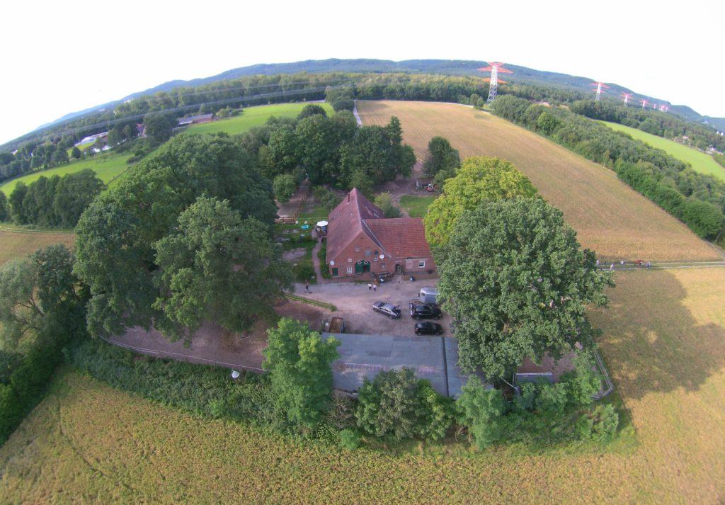 Luftaufnahme in Bielefeld Haus Grundstück